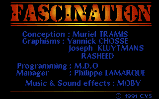 FASCINATION – Amiga / PC (1991)