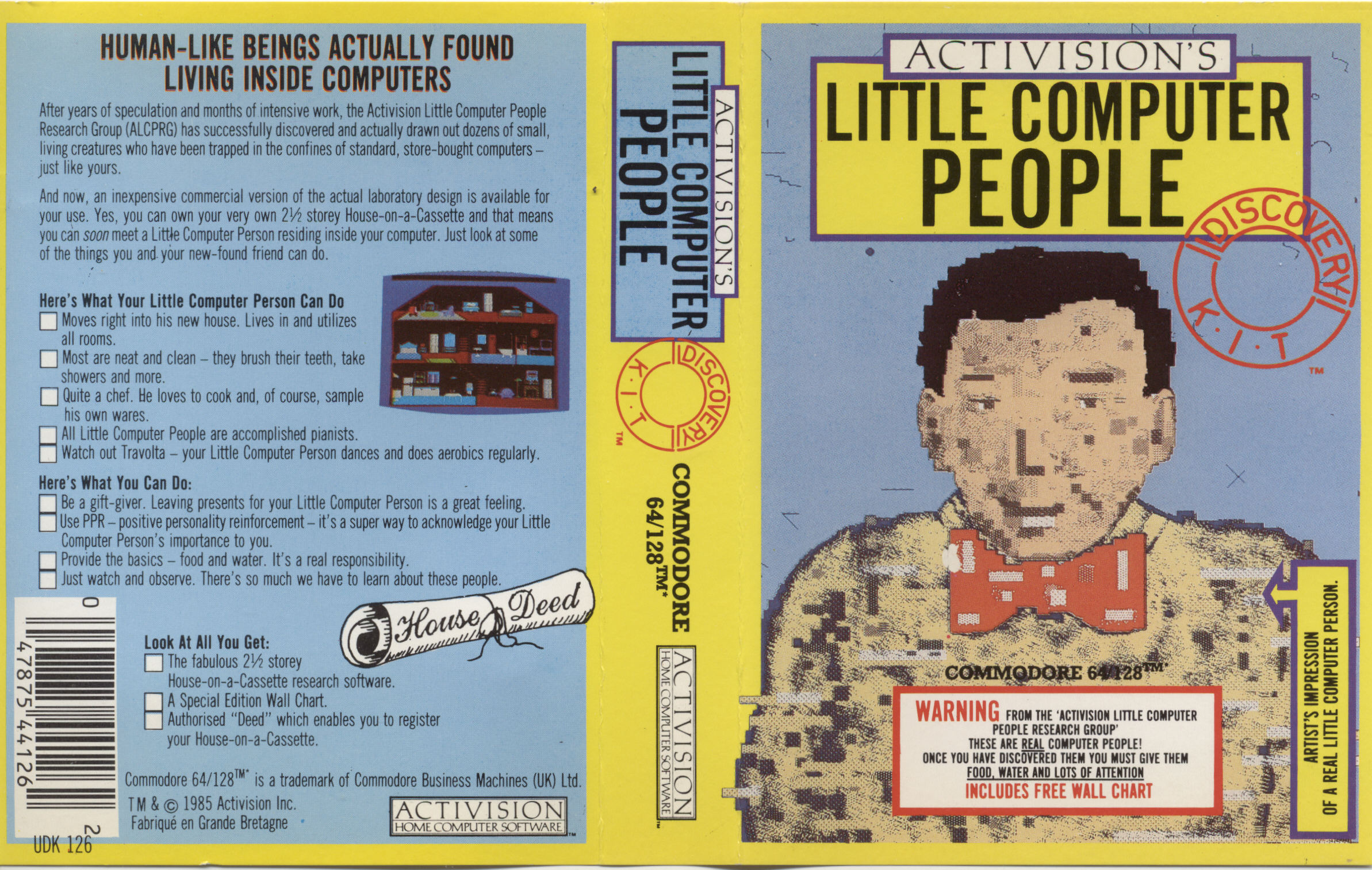 LITTLE COMPUTER PEOPLE – Commodore 64  (1985)