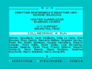 """I """"Credits"""" di RUN..."""
