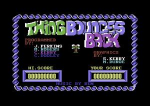 Lo schermo dei titoli della versione originale di Thing Bounces Back