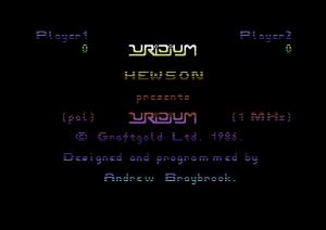 Lo schermo dei titoli della versione originale di Uridium +