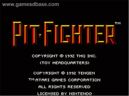 PIT FIGHTER – All versions (1990)