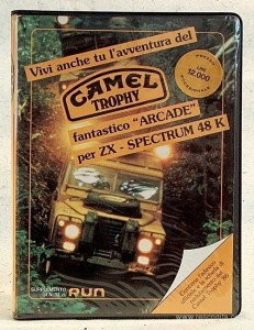 La confezione di Camel Trophy Videogame
