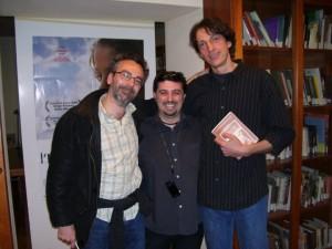 "Da Sx:  Gianluca ""BOKA"" Gaiba, Robert Grechi, Michele Sanguinetti, sempre alla Reunion Simulmondo"