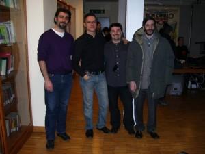 Da Sx: Andrea Bradamanti, Ivan Venturi, Robert Grechi e Batale Fietta alla Reunion Simulmondo