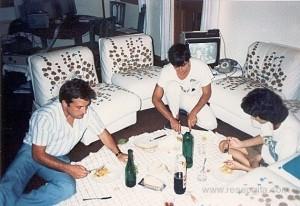 Da sx: un amico (non programmatore), Bruno e Cristina (futura moglie di Bruno). La foto è stata scattata da Steed Kulka