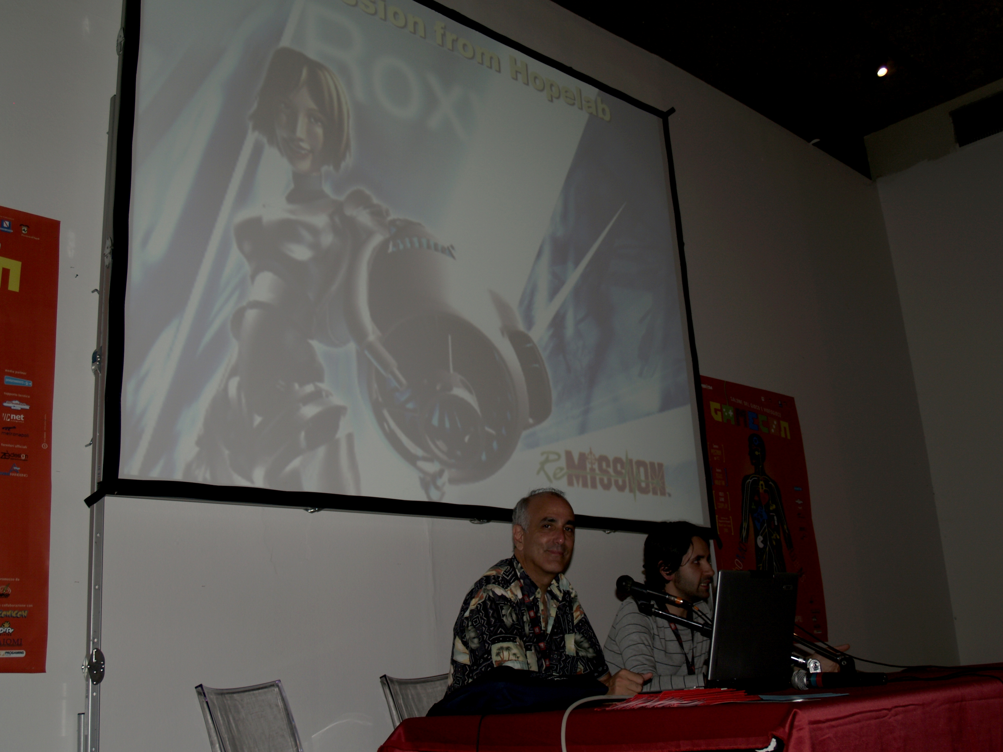 Conferenza Gamecon 2009, con Noah Falstein, autorre di Indiana Jones and the Last Crusade, il mitico Adventure della Lucasfilm