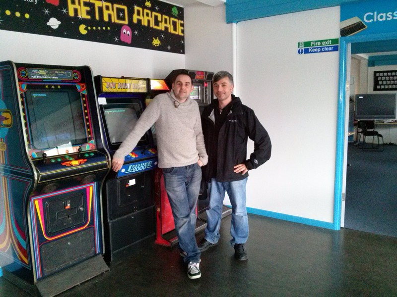Con Jason Kirkpatrick del Centre for Computing History, Cambridge, GB, aprile 2014