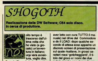 Uno stralcio delle recensione di Shogoth su Zzap!...
