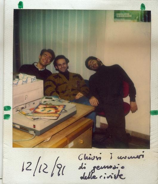 """Max Reynaud, Alex Rossetto e JH, I tre caporedattori dei tempi alla fine della """"stagione delle chiusure"""". TGM, Zzap! e ConsoleMania chiudevano tutte nell'arco di una settimnana..."""
