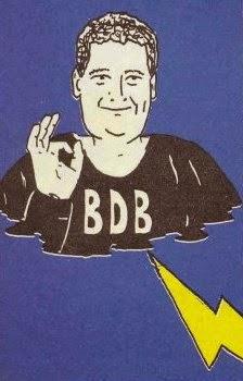 La caricatura di Bonaventura Di Bello, utilizzata nei commenti di Zzap!
