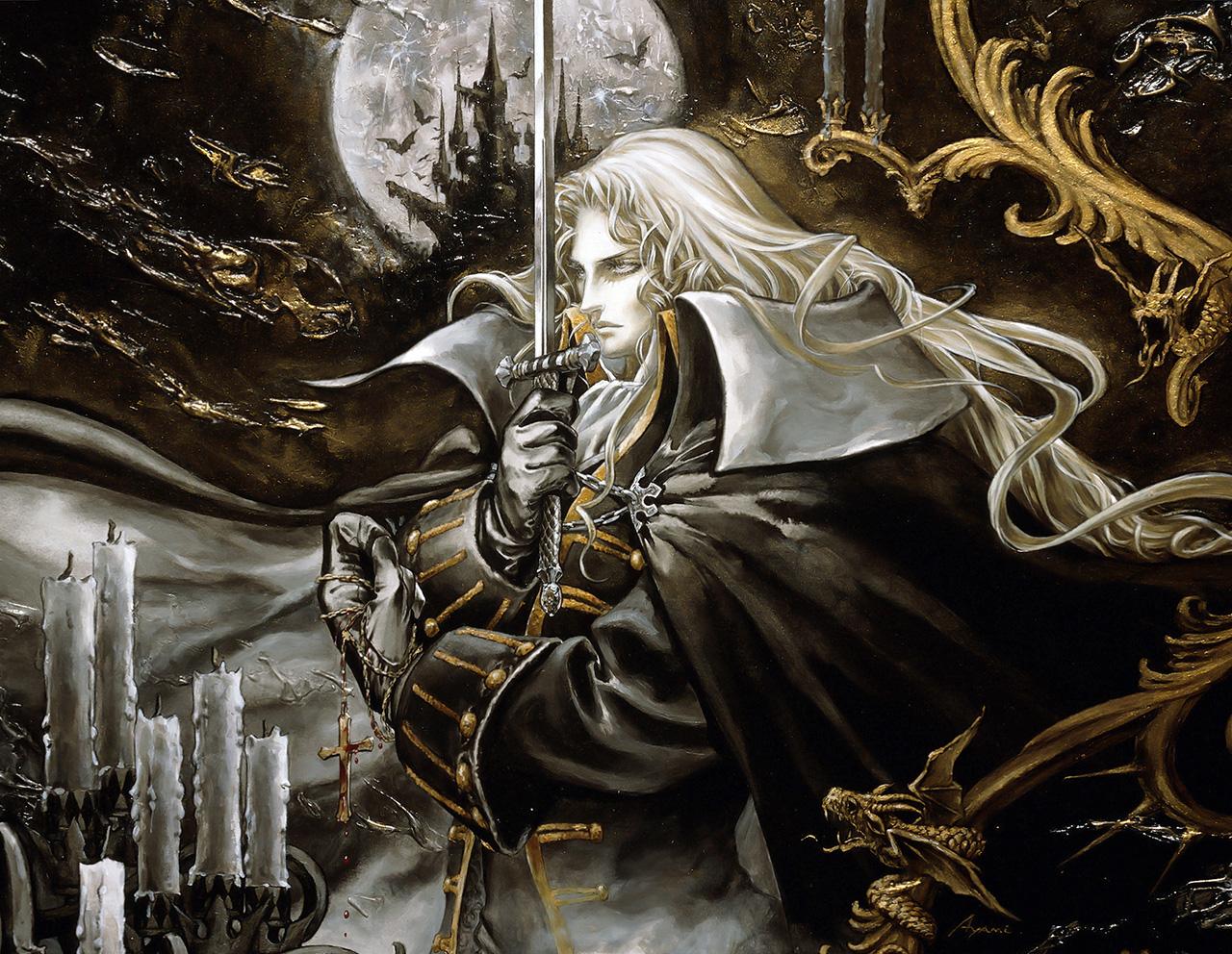 Una splendida rappresentazione di Alucard, il protagonista del gioco...