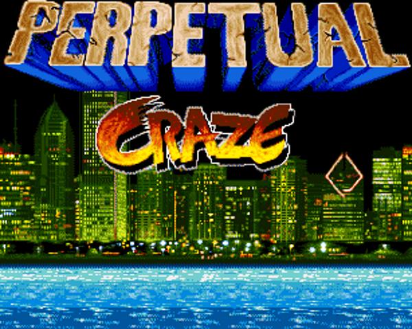 La schermata introduttiva di Perpetual Craze...