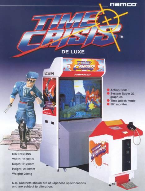 Il cabinato di Time Crisis con l'innovativo pedale idraulico...